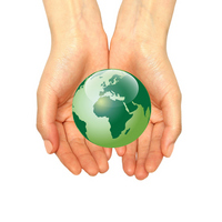 Green Earth on the palm Stock photo [1503385] Earth