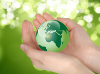 Green Earth on the palm Stock photo [1503549] Eco