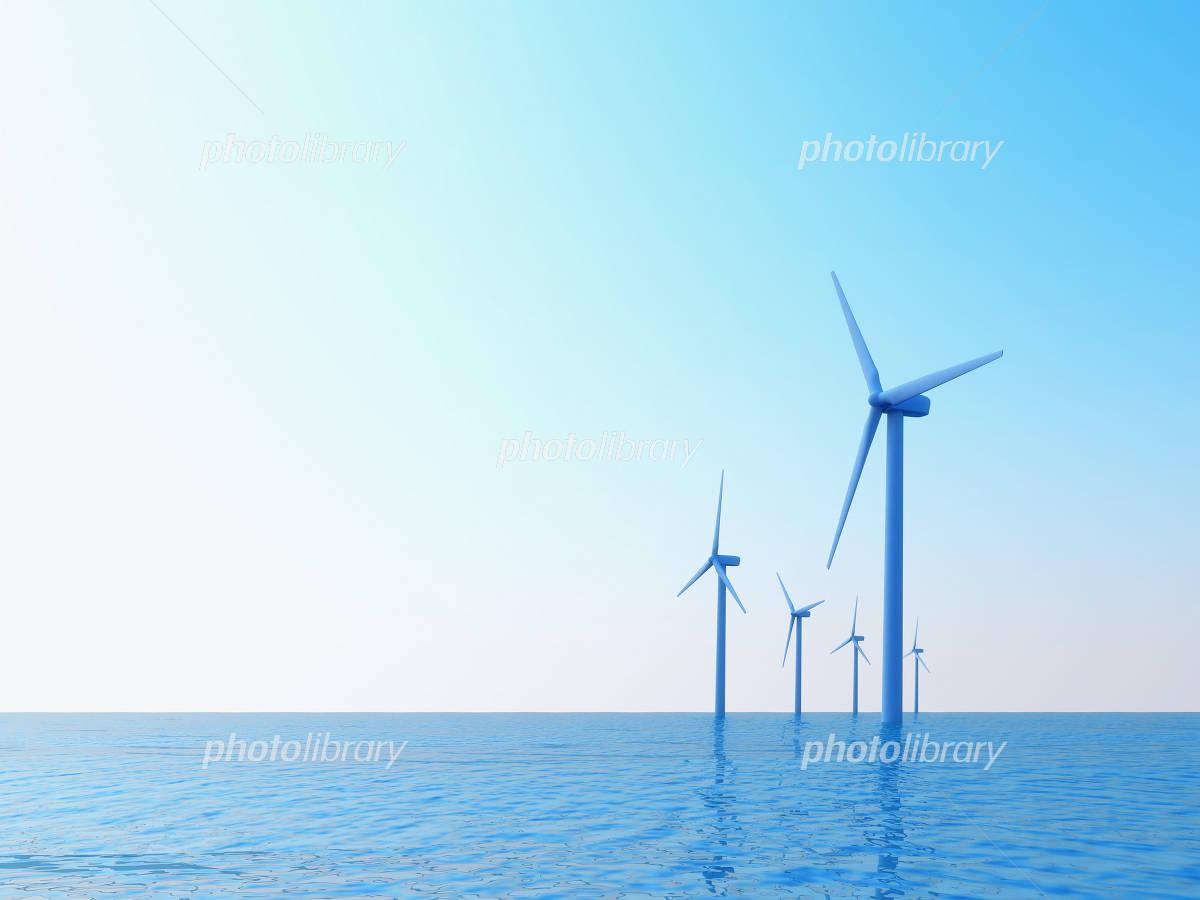 海上風力発電 イラスト素材 1607688 フォトライブラリー Photolibrary