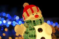 Christmas Illumination Snowman Stock photo [1596966] Acting