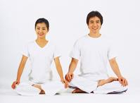 Couple to the yoga Stock photo [1597857] Korea