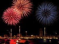 Minato Kobe Maritime fireworks Stock photo [1598161] Kobe