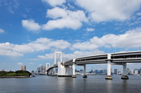Tokyo Bay and Rainbow bridge blue sky spreads Stock photo [1599266] Blue
