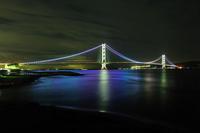 Akashi Kaikyo Bridge night scene Stock photo [1600802] Akashi
