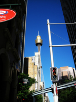 Sydney Tower seen from interval of building Stock photo [1600906] Sydney