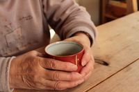 Old man drinking tea Stock photo [1605992] Old