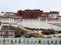Tibet Potala Palace front view Stock photo [1606231] Potala