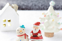 Santa Claus and snowman Stock photo [1607562] Santa