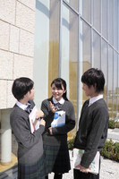 Outdoor friends Hanashikomu high school students Stock photo [1699896] High