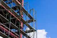 Construction site of scaffolding Stock photo [1701944] Construction