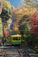 Autumn leaves of cable car and the surrounding Mt. Stock photo [1705218] Landscape