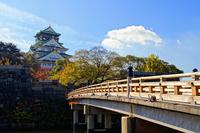 Gokurakubashi and Osaka Castle Stock photo [1705600] Osaka