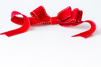 Red bow Stock photo [1708480] Gift