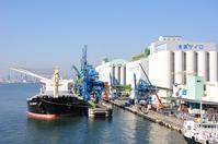 Cargo ship and silo Stock photo [1709055] Cargo