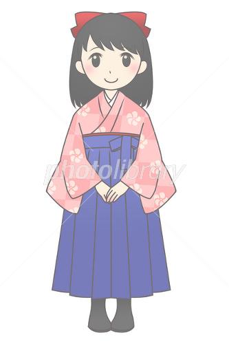 袴の女の子 イラスト素材 1785308 フォトライブラリー Photolibrary
