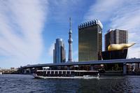 Sumida River pleasure boat River Town and Tokyo Sky Tree Stock photo [1782880] Tokyo