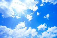 Blue sky and sun Stock photo [1786003] Blue