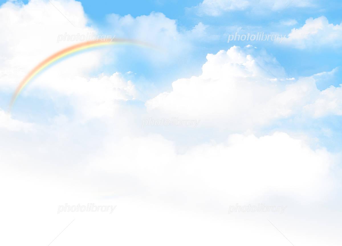 虹のある青空イメージ イラスト素材 1890893 無料 フォトライブ