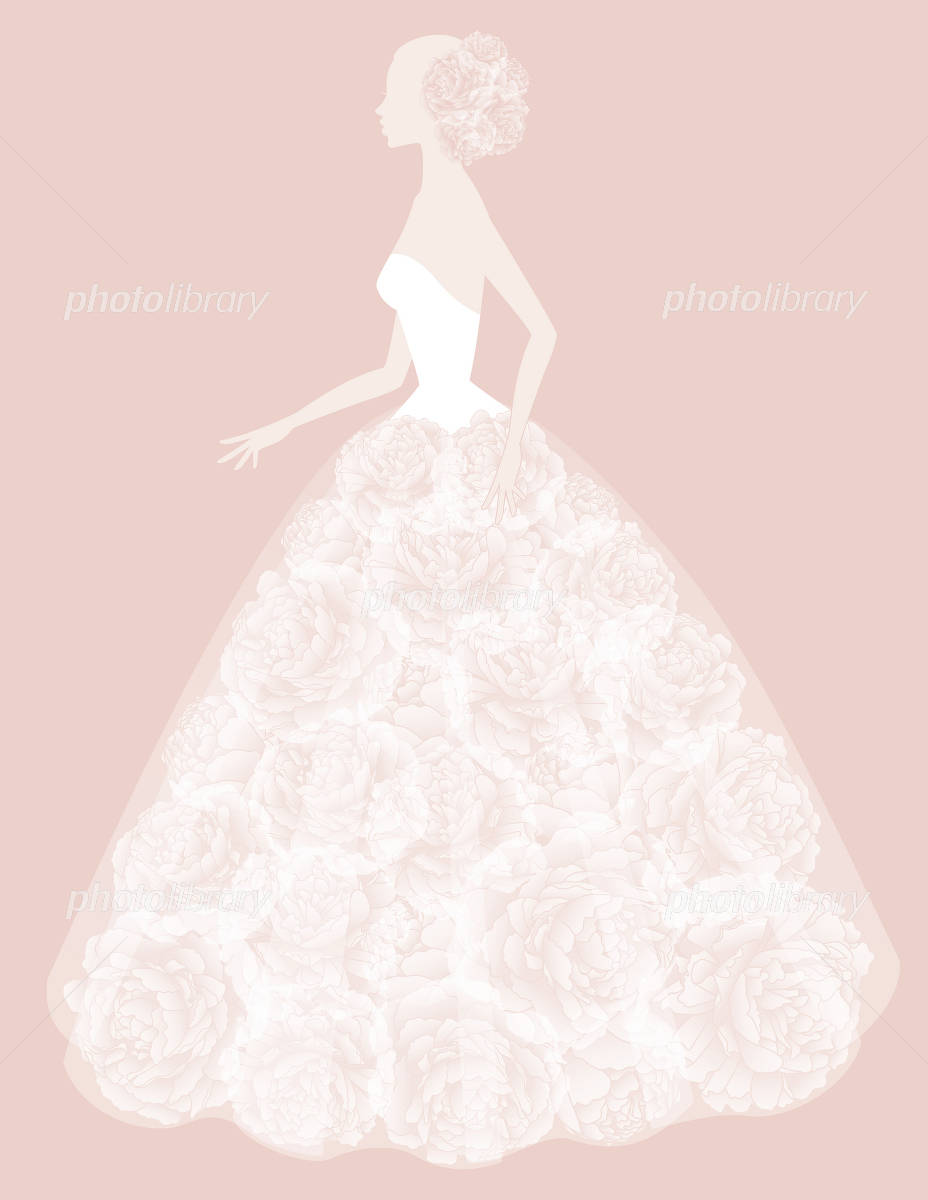 ウエディングドレス イラスト素材 1891735 フォトライブラリー