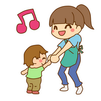Infants and teacher illustrations An