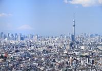 Tokyo Sky Tree Mount Fuji stock photo