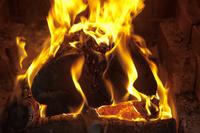 Burning is large firewood Stock photo [1890323] Pay