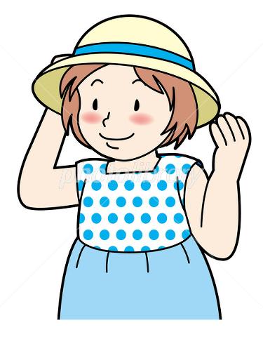 麦わら 帽子 女の子 イラスト