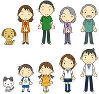 Nakayoshi family studded [1989963] Family