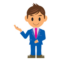 Businessman illustrations introduce stock photo