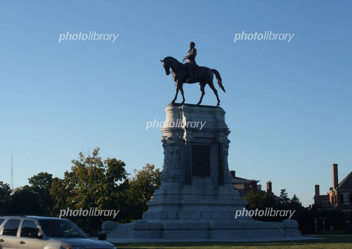 リッチモンドのリー将軍像 写真...