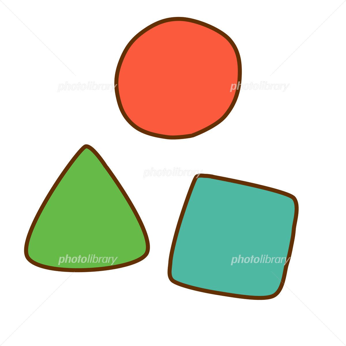 丸三角四角イラスト イラスト素材 2102775 無料 フォトライブ