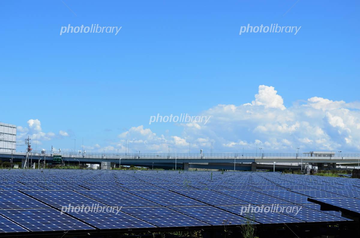 Floating island solar power plant Photo