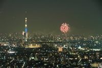 Sumida River Fireworks and Sky Tree Stock photo [2098815] Tokyo