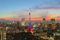 Olympic color Tokyo Tower Stock photo [2099537] Olympic