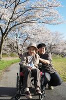 Grandma and stroll in Stock photo [2101414] Grandma