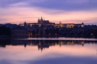 Dusk of Prague Castle Stock photo [2107960] Czech