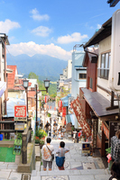View from Ikaho hot spring stone steps Street Stock photo [2200350] Souvenir
