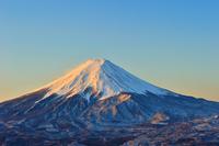 Mt. Fuji at dawn stock photo