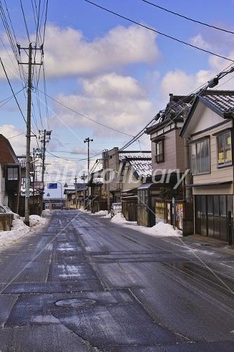 冬の鶴岡市 加茂 写真素材 [ 233...