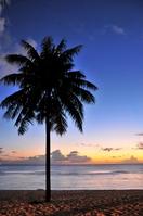 タモンビーチの夕景