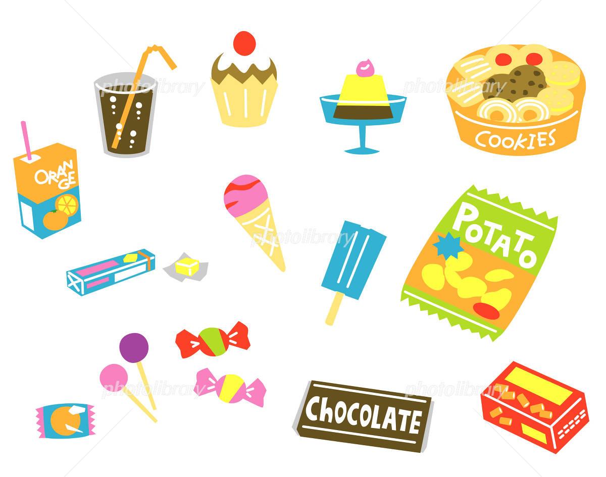 Snack candy illustrations イラスト素材