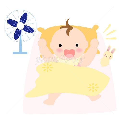 夏のお昼寝から起きた赤ちゃん イラスト素材 2461535 フォトライブ