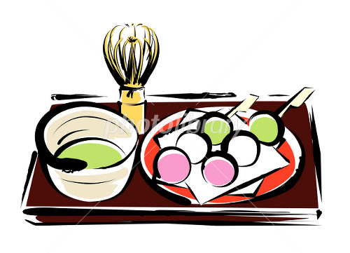 三色団子と抹茶 イラスト イラスト素材 2462449 フォトライブ