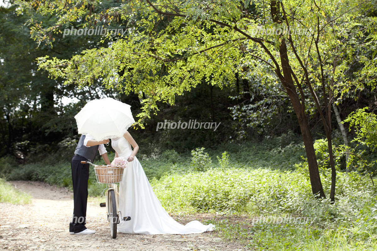 Wedding in the woods Photo