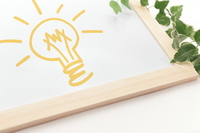 Board and light bulb illustration Stock photo [2453192] Whiteboard