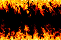 Frame of flame Stock photo [2453489] Inflammatory
