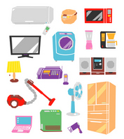 Consumer electronics illustrations [2458204] Consumer
