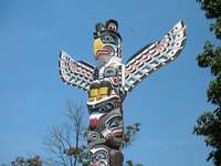 Canada Vancouver Stanley Park totem pole Stock photo [2459417] canada