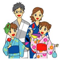 Family summer festival illustrations [2460786] Family