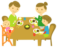 Family meal illustrations [2461357] Family